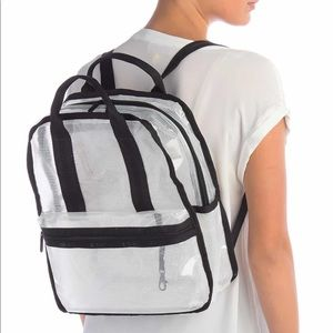 LeSportsac Gabrielle Box Clear Backpack, NWT